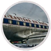 Plane Fly Eastern Air Lines Round Beach Towel