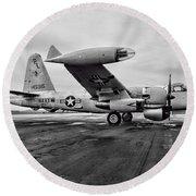 Plane - P2v-7 Neptune Aircraft Round Beach Towel