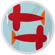 Planes  Round Beach Towel