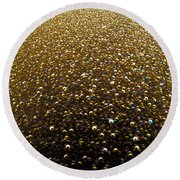 Planet Of Jewels Round Beach Towel