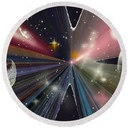 Planets Dancing Round Beach Towel