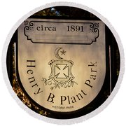 Plant Park Since 1891 Round Beach Towel