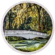 Plantation Bridge Round Beach Towel