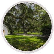 Plantation Grounds Round Beach Towel