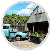 Planted Truck Bed Round Beach Towel