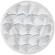 Plaster Pattern Round Beach Towel