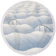 Plastic Sheet Greenhouses To Grow Veggies Round Beach Towel