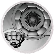 Plate And Bowl Round Beach Towel