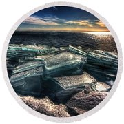 Plate Ice Brighton Beach Duluth Round Beach Towel