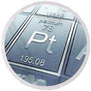 Platinum Chemical Element Round Beach Towel