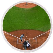 Play Ball Round Beach Towel by Frozen in Time Fine Art Photography