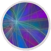 Play Of Colours Round Beach Towel