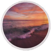 Playa De Fuego  Round Beach Towel