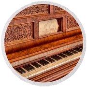 Piano Keys In The Key Of Life Round Beach Towel