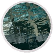 Playful Abstract Reflections Round Beach Towel