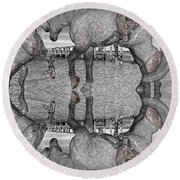 Playful Blessings Round Beach Towel