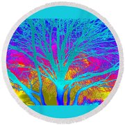Playful Colors 4 Round Beach Towel