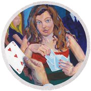 Playing Cards Round Beach Towel