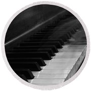 Playing The Piano Round Beach Towel