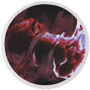 Playing With Fire 2 By Jrr Round Beach Towel