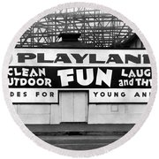 Playland At The Beach Round Beach Towel