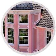 Beautiful Pink Turret - Boardwalk Plaza Hotel Annex - Rehoboth Beach Delaware Round Beach Towel