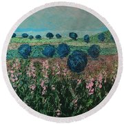 Pleasant Meadows Round Beach Towel