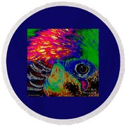Pleasant Pheasant  Round Beach Towel