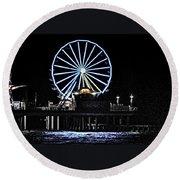 Pleasure Pier Ferris Wheel Round Beach Towel