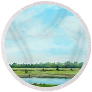 Plein Air At Nancy's 2  Round Beach Towel