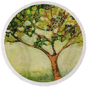 Plein Air Garden Series No 8 Round Beach Towel