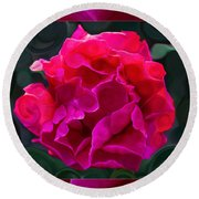 Plentiful Supplies Of Pink Peony Petals Abstract Round Beach Towel