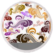 Plenty Of Fish In The Sea 5 Round Beach Towel