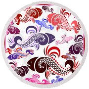 Plenty Of Fish In The Sea 6 Round Beach Towel