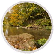 Plessey Woods And The River Blyth Round Beach Towel