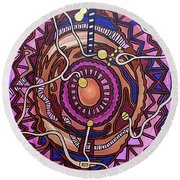 Plugged In Round Beach Towel