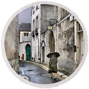 Pluie A Chartres - 1 Round Beach Towel