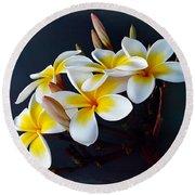 Plumeria Bouquet 2 Round Beach Towel