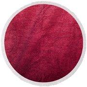 Plush Red Texture Round Beach Towel