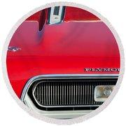 Plymouth Barracuda Grille Emblem Round Beach Towel