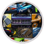 Plymouth Collage No. 1 Round Beach Towel