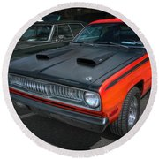 Plymouth Duster 340 Round Beach Towel