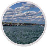Plymouth Harbor Round Beach Towel