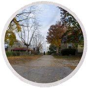 Plymouth Meeting Friends In Autumn Round Beach Towel