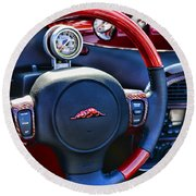 Plymouth Prowler Steering Wheel Round Beach Towel