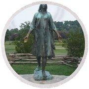 Pocahontas Sculpture Round Beach Towel