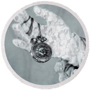 Pocket Watch Round Beach Towel