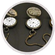 Pocket Watches Round Beach Towel
