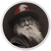 Poet Walt Whitman George Collins Cox Photo 1887-2010 Round Beach Towel