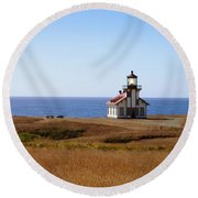 Point Cabrillo Light House Round Beach Towel